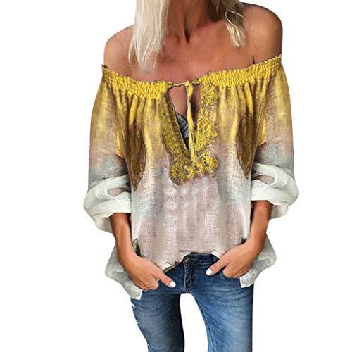 Kviklo Damen Camis Top Solide Layered V-Ausschnitt Ärmellos Rüschen Westen Tank Leibchen Beach Party Bluse(L(40),Gelb)