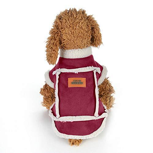 austier Kleidung Welpen Lamm Kaschmir Mantel Weste Hundepullover Hundemantel Hundejacke ()
