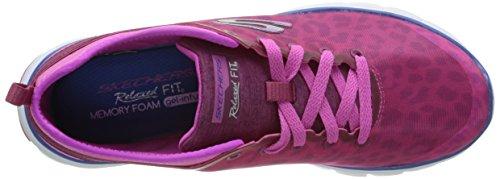 Skechers Flex Power Player, Multisport Outdoor Femme Rose (Rose Foncé)