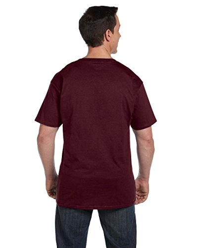 Hanes Men's Beefy-T T-Shirt With Pocket Rot - Maroon