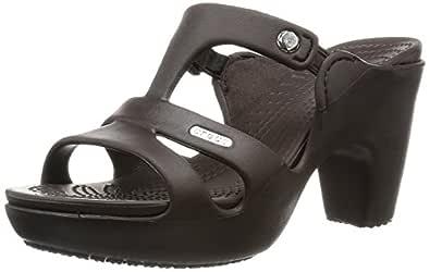 crocs Cyprus V Women Heel in Grey