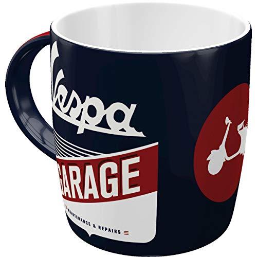 Nostalgic-Art 43053 - Vespa - Garage, Retro Tasse mit Spruch, Vintage Kaffee-Becher, Geschenk-Tasse für Vespa Fans