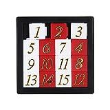 ZREAL Giocattolo educativo in anticipo Che Si sviluppa per i Bambini Puzzle numerico 1-15 Giocattoli del Gioco di Puzzle