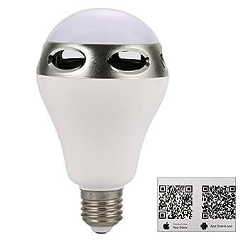 XCSOURCE E27 Bluetooth Music Audio Couleur LED Ampoule Lampe Lumière Blanc pour IOS Android LD575