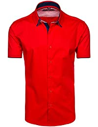 BOLF – Chemise casual – avec manches courtes – Homme - 2B2
