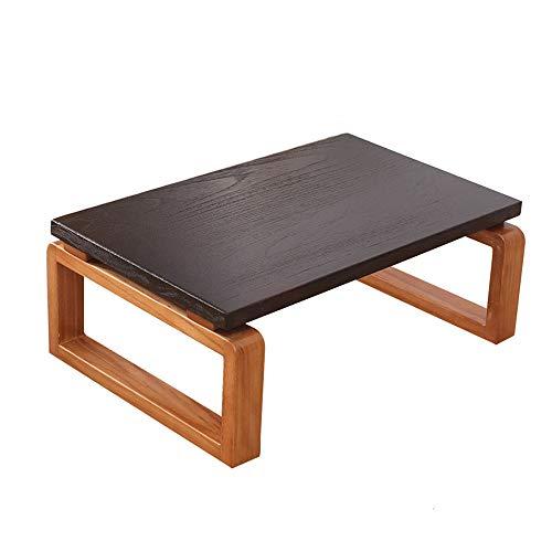 Tavolino da Salotto in Tatami di Legno Massiccio di Alta qualità, Fatto a Mano, Impermeabile e Resistente all'umidità, invia Due Cuscini