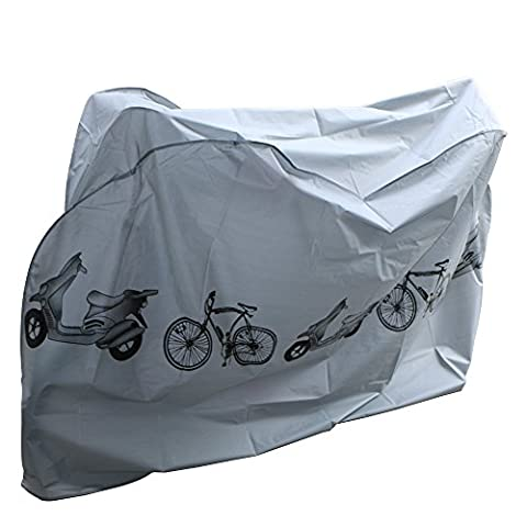 Fahrradschutzhülle NAKEEY Wasserdichter Fahrradgarage Fahrradabdeckung Wasserdichte Schutzhülle Fahrradschutzhülle für Fahrräder 210x 100 cm passend für die meisten Fahrradschutzhülle (Grau)