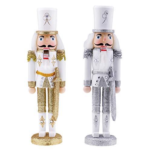 perfk Hölzerne Nussknacker Nussknacker Soldat Modell Weihnachten Nussknacker Home Decor Ornamente