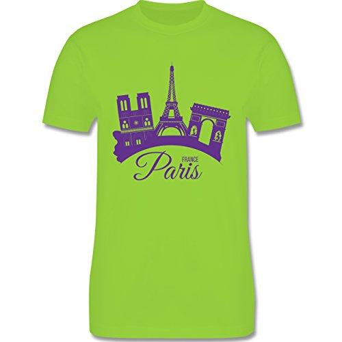 Skyline - Skyline Paris Frankreich France - Herren Premium T-Shirt Hellgrün