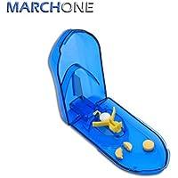 Preisvergleich für MARCHONE Pillenschneider Tablettenteiler Tablettenschneider Pillenteiler Medikamententeiler Blau