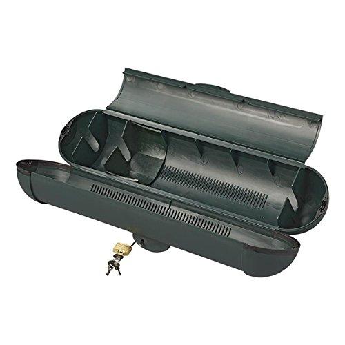 Unbekannt Sicherheitsbox für CEE Stecker Kabelschutz mit Schloss und 3 x Schlüssel Stromdiebstahl Schutz Kabelbox 370 x 90 mm bis Kabeldurchmesser 12 mm Setauswahl (1)