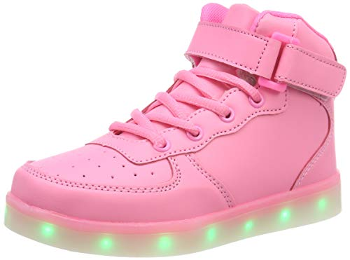 FLARUT-Nios-Zapatillas-Led-Luminioso-con-7-Colores-Unisex-Hip-Tops-Sneakers-Zapatos-con-LucesRosa29