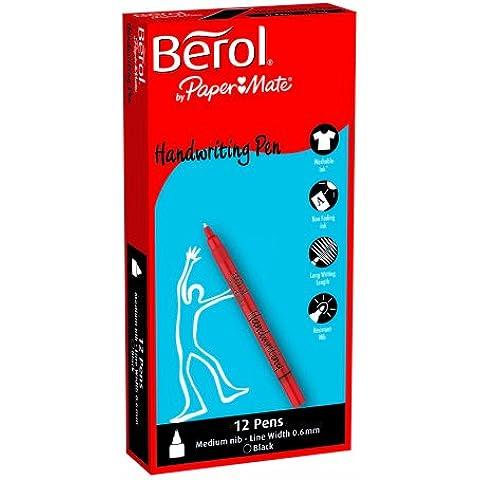 Berol - Rotulador para escritura (tinta negra, 12 unidades)