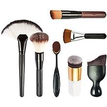 JasCherry Pro 7 Pcs brochas de maquillaje cosméticas Kit - profesional cepillos / pinceles conjunto para Corrector Sombra de Ojos Ceja Fundación Polvo