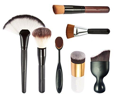 JasCherry Pro 7 Pcs Pennelli Trucco - Professionale Cosmetico Spazzole / Make Up Brushes Corredo Per Blush Correttore Occhi Viso Liquidi Polveri Creme