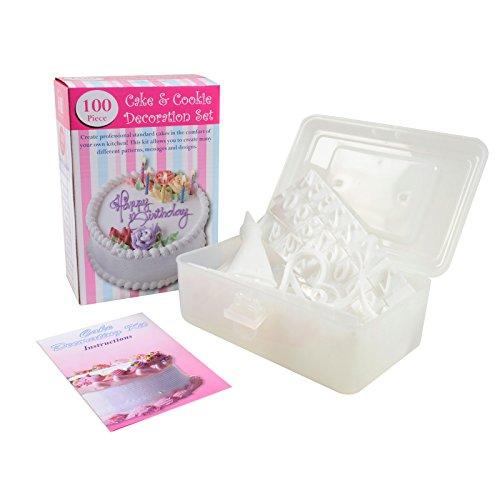 Cake Design Kit - Set Di Decorazione Torte Da 100 Pezzi Con Valigetta