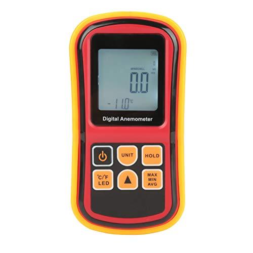 Anemometer, GM8901 Handheld LCD Digital Anemometer Luftgeschwindigkeitsmesser Windgeschwindigkeit Temperaturmesser, elektrische Prüfung