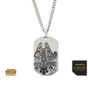 Star Wars Poster-Episode 7 la Force Réveille Faucon Millenium Dog Tag collier pendentif