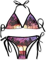 c9317aac3757 Maui Bikini Women's Summer Swimwear Triangle Top Bikinis Swimsuit Sexy  2-Piece Set
