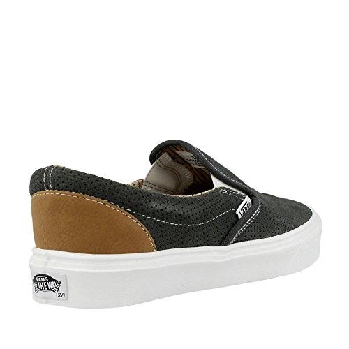 Vans Slip-On Lite Perf Black White (trim) charcoal