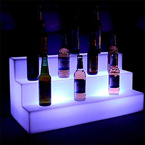 OOFAY& LED - Änderungen 7 Farben - Eis Eimer Wasserdicht Drei-Stufen-Bars Regale Halter, Beleuchtet Flasche Zeigt An Bier Inhaber Fernbedienung + Adapter (Flasche Regal Baby)