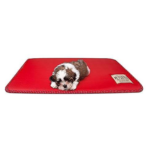 sanzang wendbar Pet bett Leder Hundematte für crage Wasserdicht blanet Resting Pad (Paw Pet Carrier)