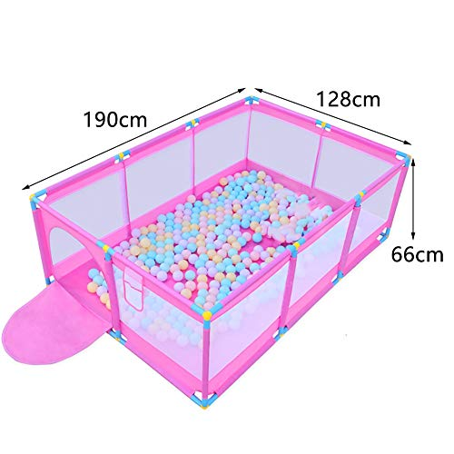 Pink Large Baby Playpen - Portable Infant Toddler Security Fance ,10-Panel Twins Ocean Ball Pool (Size : Playpen)  BSNOWF