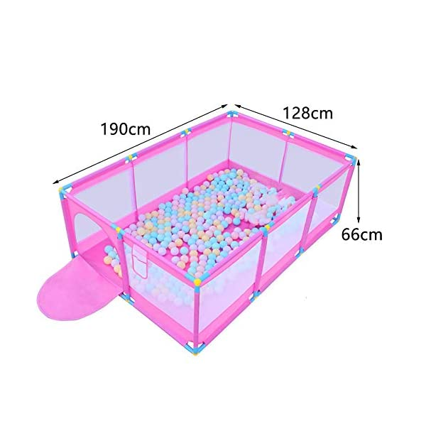 Pink Large Baby Playpen - Portable Infant Toddler Security Fance ,10-Panel Twins Ocean Ball Pool (Size : Playpen) Playpens  2