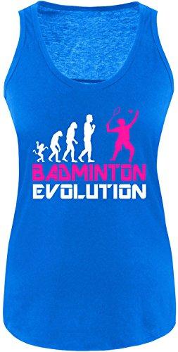 EZYshirt® Badminton Evolution Damen Tanktop Royal/Weiss/Pink