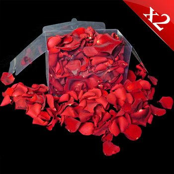 2 Jugs (2 litres) of fresh Red and Pink rose petals perfect for weddings and confetti