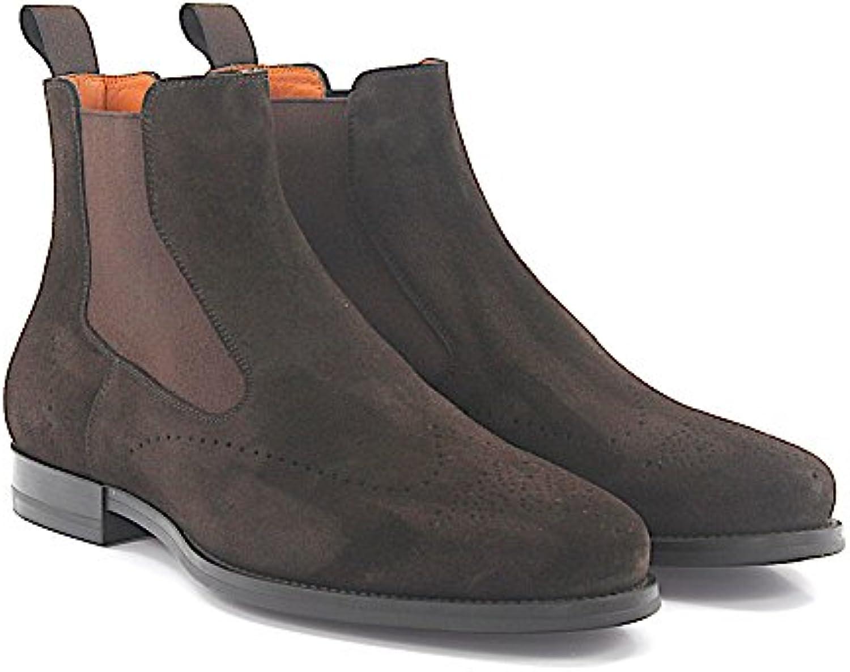Chelsea Boots 15308 Veloursleder Braun Lyra Lochung