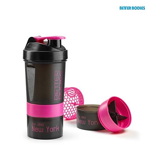 Better Bodies Pro Shaker (600ml), Größe:Universalgröße;Farbe:schwarz/pink