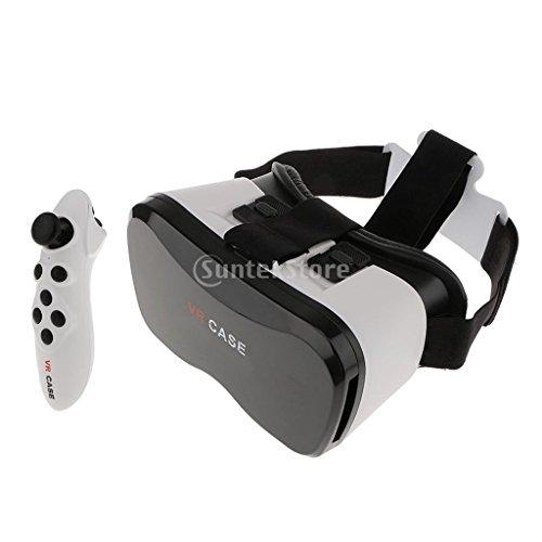Gafas-3D-Gafas-De-Realidad-Virtual-3D-Caja-VR-50-Versin-con-Mando-A-Distancia
