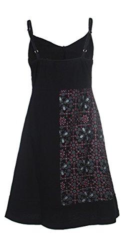 Coline - Robe courte imprimé fleur Noir