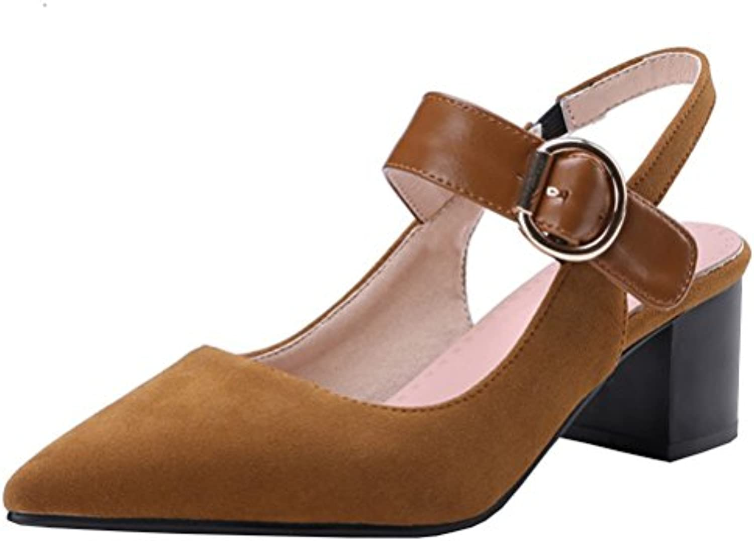 0e6f5ac7b53 Atyche Women s Ankle Shoes Mid Heels Mary Janes Sandals Ankle Strap Court  Shoes Slingback Pointed Toe Sandals Summer Pumps B07BT4C38X Parent 95ff66d