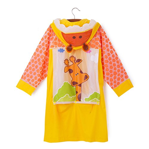 LFF.FF Cute Cartoon Children's Baby Poncho Outdoor With Inflatable Cap For Boys And Girls Raincoat,G,XXL