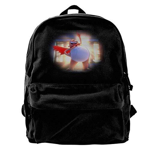 Canvas Backpack Captain Underpants Rucksack Gym Hiking Laptop Shoulder Bag Daypack for Men Women