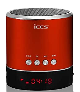 Ices IXBB-010 RED Enceintes PC / Stations MP3 RMS 3 W