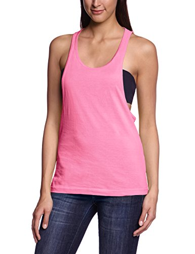 Urban Classics - Ladies Loose Burnout Tanktop, T-shirt sportiva Donna, Rosa (Neonpink), Medium (Taglia Produttore: Medium)