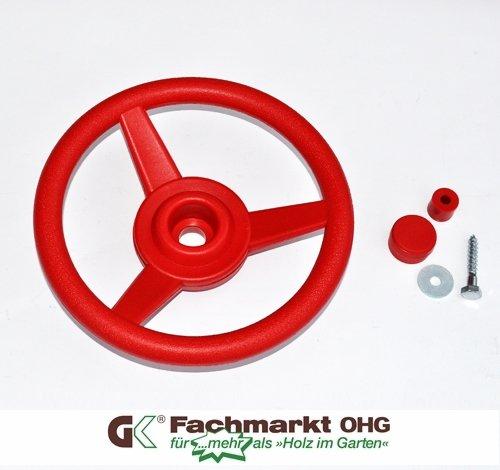 Lenkrad/Steuerrad für Spielanlagen, rot (330mm Lenkrad)