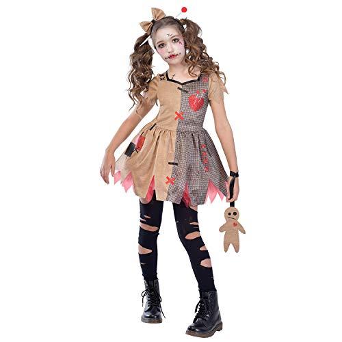 (Amscan Kinder Halloween Cute Voodoo Puppe Mädchen Kostüm XL (10-12 years))