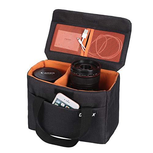 BAGTECH DSLR SLR Custodia per Macchine Fotografiche Borsa Fotografica antiurto con Divisori staccabili per Nikon Canon Fuji Olympus Sony