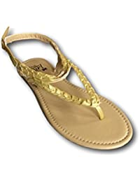 b91f13bccd7 Amazon.co.uk  Gold - Sandals   Girls  Shoes  Shoes   Bags