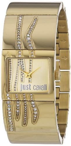 Just Cavalli Pattern Women's Quartz Watch with White Dial Analogue Display and Blue Stainless Steel Strap R7253588501