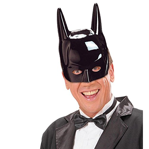 NET TOYS Batman Maske Dark Knight Faschingsmaske Superheld Karnevalsmaske Dunkler Ritter Maskierung Comic Held Halbmaske Batmanmaske Kostüm Zubehör ()