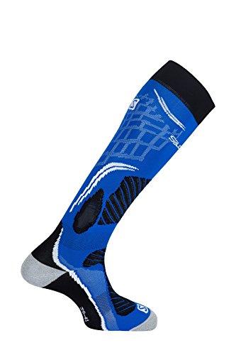 Salomon Unisexe, 1 Paire de Chaussettes mi-épaisses, X PRO, Taille XL (45-47), Bleu (Union Blue)/Noir, L37885900