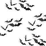 KUUQA 24 stuks vleermuis wandtattoo Halloween Party Deko PVC 3D vleermuis DIY