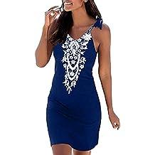 c65856b629 ... mujeres Ropa interior atractiva Ropa interior ... Berimaterry Vestido  de Encaje para Mujer - Vestido Corto de Cóctel - Vestido Elegante con  Estampado