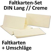 Karten Set Inklusive Briefumschläge | 50er Set | Blanko Einladungskarten In  Creme Weiß |