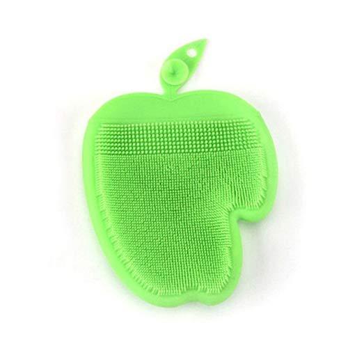 Outtybrave - Guantes de silicona reutilizables para lavar y limpiar el fregadero, guantes de limpieza para el hogar, plato, lavado de coche 16 * 13cm verde